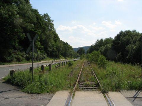 Bahnübergang im Süden von Dorndorf